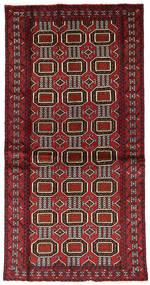 バルーチ 絨毯 97X192 オリエンタル 手織り 深紅色の/濃い茶色 (ウール, ペルシャ/イラン)
