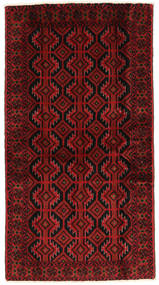 Beluch Vloerkleed 108X198 Echt Oosters Handgeknoopt Donkerrood/Roestkleur (Wol, Perzië/Iran)