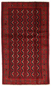 Beluch Vloerkleed 104X183 Echt Oosters Handgeknoopt Donkerbruin/Rood/Donkerrood (Wol, Perzië/Iran)