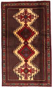 Belutsch Teppich  102X173 Echter Orientalischer Handgeknüpfter Dunkelrot/Hellbraun (Wolle, Persien/Iran)