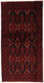 Belutsch Teppich  98X190 Echter Orientalischer Handgeknüpfter Dunkelrot/Rot (Wolle, Persien/Iran)