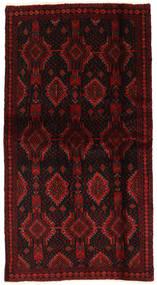 Beluch Vloerkleed 100X190 Echt Oosters Handgeknoopt Donkerrood (Wol, Perzië/Iran)