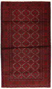 Baluch Rug 107X186 Authentic  Oriental Handknotted Dark Red/Crimson Red (Wool, Persia/Iran)