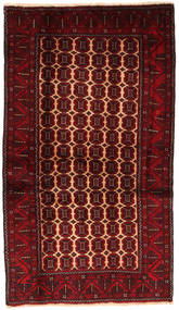 Beluch Covor 100X179 Orientale Lucrat Manual Roșu-Închis/Maro Închis (Lână, Persia/Iran)