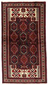 Baloutche Tapis 109X197 D'orient Fait Main Rouge Foncé/Marron Foncé (Laine, Perse/Iran)