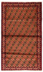 Baluch Rug 97X160 Authentic  Oriental Handknotted Rust Red/Dark Red (Wool, Persia/Iran)