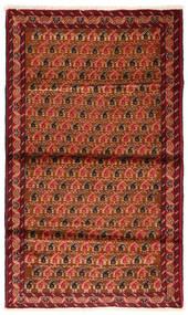 Beludż Dywan 97X160 Orientalny Tkany Ręcznie Rdzawy/Czerwony/Ciemnoczerwony (Wełna, Persja/Iran)