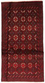 バルーチ 絨毯 89X171 オリエンタル 手織り 深紅色の (ウール, ペルシャ/イラン)