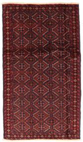 バルーチ 絨毯 94X166 オリエンタル 手織り 深紅色の/茶 (ウール, ペルシャ/イラン)
