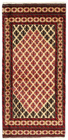 Beluch Tappeto 81X172 Orientale Fatto A Mano Rosso Scuro/Beige (Lana, Persia/Iran)
