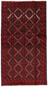 Baluch Rug 102X187 Authentic  Oriental Handknotted Black/Dark Red (Wool, Persia/Iran)
