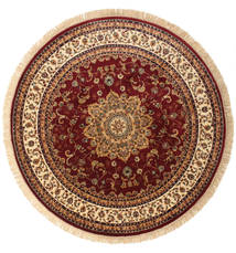 Nahal - Rust Rug Ø 200 Modern Round Dark Red/Beige ( Turkey)