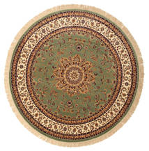 Nahal - Green Rug Ø 200 Modern Round Brown/Olive Green ( Turkey)