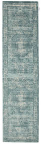 Jacinda - Light Rug 80X300 Modern Hallway Runner  Light Grey/Turquoise Blue ( Turkey)