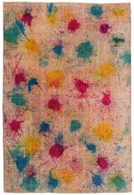 Colored Vintage Matto 192X287 Moderni Käsinsolmittu Vaaleanruskea/Vaaleanpunainen (Villa, Turkki)