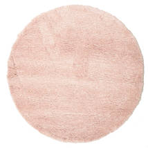 Shaggy Sadeh - Rose Tapis Ø 150 Moderne Rond Rose Clair/Beige ( Turquie)