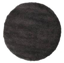 Shaggy Sadeh - Czarny/Szary Dywan Ø 150 Nowoczesny Okrągły Czarny/Ciemnobrązowy ( Turcja)
