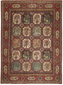 Tabriz Patina Tæppe 295X400 Ægte Orientalsk Håndknyttet Lysebrun/Mørkebrun/Mørkerød Stort (Uld, Persien/Iran)