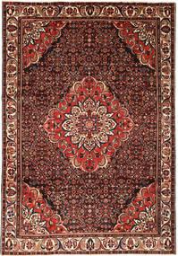 Hosseinabad Covor 212X315 Orientale Lucrat Manual Roșu-Închis/Maro (Lână, Persia/Iran)