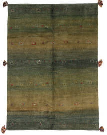 Gabbeh Persia Rug 144X199 Authentic  Modern Handknotted Dark Green/Olive Green (Wool, Persia/Iran)