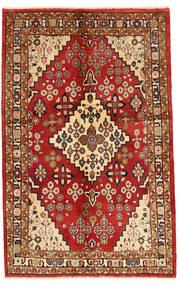Jozan Matto 132X207 Itämainen Käsinsolmittu Tummanpunainen/Ruoste (Villa, Persia/Iran)