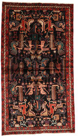Nahavand Rug 137X245 Authentic  Oriental Handknotted Dark Brown/Dark Red (Wool, Persia/Iran)