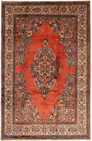 Sarough Matto 205X320 Itämainen Käsinsolmittu Tummanharmaa/Tummanpunainen (Villa, Persia/Iran)