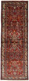 Hamadan Rug 105X300 Authentic  Oriental Handknotted Hallway Runner  Dark Red/Dark Grey (Wool, Persia/Iran)