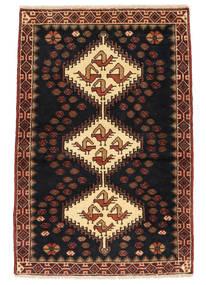 Saveh Szőnyeg 73X110 Keleti Csomózású Fekete/Sötétbarna (Gyapjú, Perzsia/Irán)