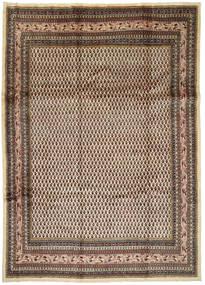 Arak Vloerkleed 245X345 Echt Oosters Handgeknoopt Lichtbruin/Donkerbruin (Wol, Perzië/Iran)