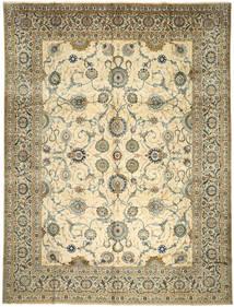 Keshan Teppe 317X418 Ekte Orientalsk Håndknyttet Beige/Lysbrun Stort (Ull, Persia/Iran)