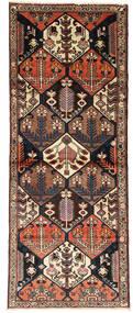 Bakhtiar Alfombra 113X307 Oriental Hecha A Mano Negro/Marrón Oscuro (Lana, Persia/Irán)