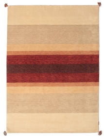 Loribaf Loom Rug 172X241 Authentic Modern Handknotted Dark Beige/Light Brown/Dark Red (Wool, India)