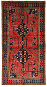 Koliai Rug 145X275 Authentic  Oriental Handknotted Dark Red/Dark Green (Wool, Persia/Iran)