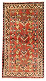 Kaszkaj Dywan 122X220 Orientalny Tkany Ręcznie Rdzawy/Czerwony/Ciemnobrązowy (Wełna, Persja/Iran)