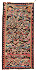Kilim Fars Rug 137X282 Authentic  Oriental Handwoven Light Brown/Brown (Wool, Persia/Iran)
