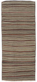 Kilim Fars Rug 140X333 Authentic  Oriental Handwoven Hallway Runner  Dark Brown/Light Brown (Wool, Persia/Iran)