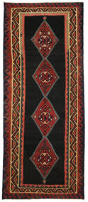 Kilim Fars Rug 166X405 Authentic  Oriental Handwoven Hallway Runner  Black/Dark Red (Wool, Persia/Iran)