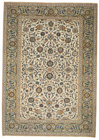 Keshan Patina Rug 214X302 Authentic  Oriental Handknotted Light Brown/Beige (Wool, Persia/Iran)