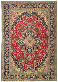 Tabriz Patina Rug 245X355 Authentic  Oriental Handknotted Dark Red/Black (Wool, Persia/Iran)