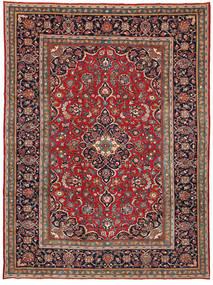 Kashan Patina Tapis 260X354 D'orient Fait Main Noir/Marron Grand (Laine, Perse/Iran)