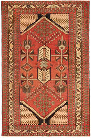 Saveh Patina Rug 135X208 Authentic  Oriental Handknotted Rust Red/Light Brown (Wool, Persia/Iran)