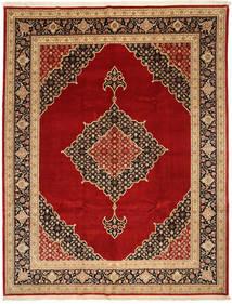Tabriz 50 Raj Med Silke Matta 250X322 Äkta Orientalisk Handknuten Ljusbrun/Mörkröd Stor (Ull/Silke, Persien/Iran)