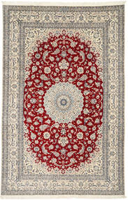 Nain 6La Habibian Rug 198X308 Authentic  Oriental Handknotted Light Grey/Beige (Wool/Silk, Persia/Iran)