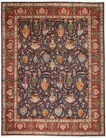 Tabriz Matto 300X384 Itämainen Käsinsolmittu Tummansininen/Tummanpunainen Isot (Villa, Persia/Iran)