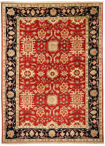 Tabriz Signed: Parvizian Rug 301X418 Authentic  Oriental Handknotted Rust Red/Dark Beige Large (Wool/Silk, Persia/Iran)