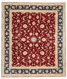 Tabriz 50 Raj Avec De La Soie Tapis 250X295 D'orient Fait Main Rouge Foncé/Marron Clair Grand (Laine/Soie, Perse/Iran)
