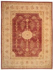 Oushak Rug 378X492 Authentic  Oriental Handknotted Light Brown/Rust Red Large (Wool, Turkey)