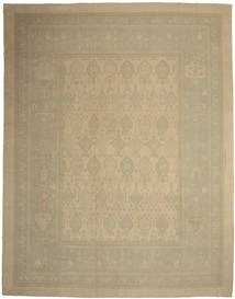 Oushak Rug 475X600 Authentic  Oriental Handknotted Light Brown/Light Green Large (Wool, Turkey)