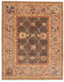 Oushak Rug 253X320 Authentic  Oriental Handknotted Light Brown/Brown Large (Wool, Turkey)